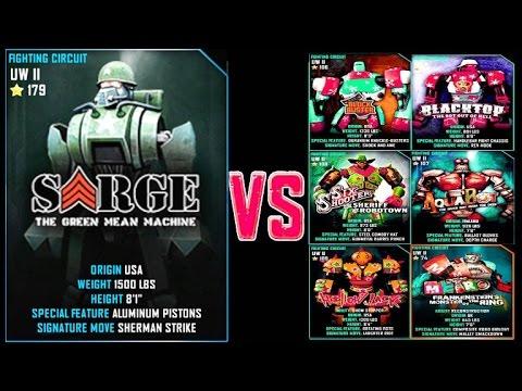 Real Steel WRB Sarge Deer VS PRO UW II ROBOTS Series of fights NEW ROBOT (Живая Сталь)