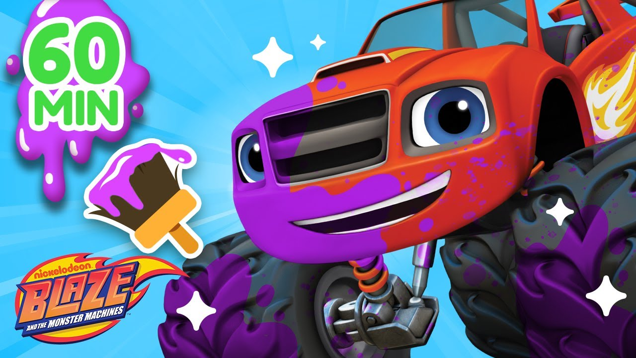 Download 1 Hour Makeover Machines Compilation w/ Blaze! | Games for Kids | Blaze and The Monster Machines