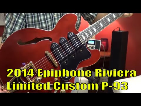 2014 Epiphone Riviera Limited Custom P-93 Guitar, demo by Tony Fuentes
