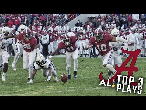 Highlights Alabama S Top 3 Plays Against Mississippi State Youtube
