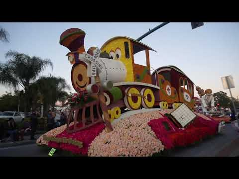 2020 Rose Parade Preview - Phoenix Floats Leaving Irwindale On New Years Eve Heading To Pasadena