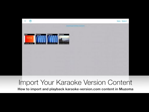 Import And Play Back Karaoke-Version.com Custom Backing Tracks On An IPhone, IPod Touch Or IPad