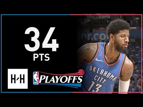 Paul George Full Game 5 Highlights Jazz vs Thunder 2018 NBA Playoffs - 34 Points!