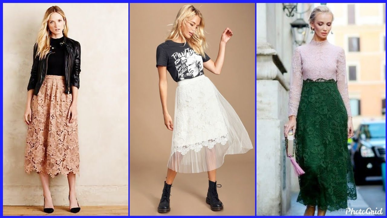 [VIDEO] - Beautiful lace skirts summer outfits designs for women 2