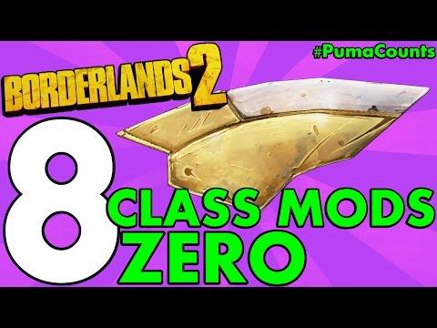 Top 8 Best Regular and Legendary Class Mods for Zero the Assassin in Borderlands 2 #PumaCounts