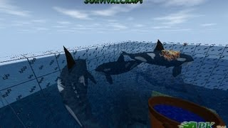 SURVIVALCRAFT HOW TO MAKE A ORCAS ZOO ON SEA  殺人鯨