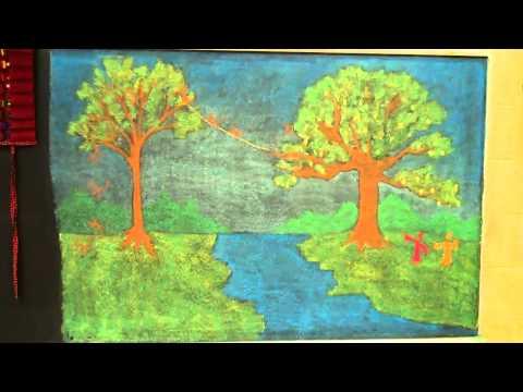 Oakland Steiner School Chalkboard Drawings 2-12