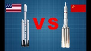 Запуск ракеты Falcon Heavy от SpaceX Илона Маска 2018 и её конкурент