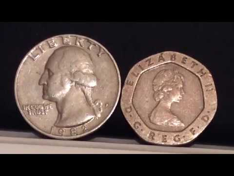1982 Rare Quarter Us Coins And 20 Pence