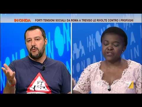 Salvini contro Kyenge: 'Dal felicemente dimenticato Ministro dell'integrazione ho poco da imparare'