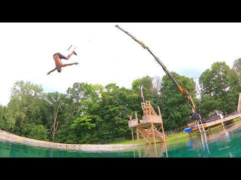Worlds Dumbest Backyard Rope Swing!!