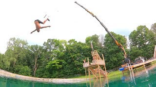 Worlds Dumbest Backyard Rope Swing!!