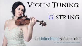 Violin Tuning Note Sound: G STRING