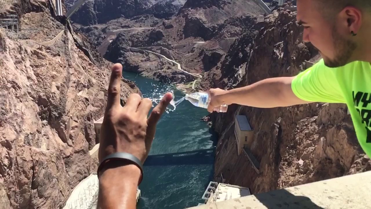 Hoover Dam pouring water