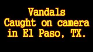 Vandals egging vehicles in El Paso, Texas - Caught on camera