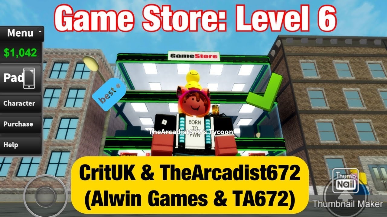 Game Store Level 6 Roblox Game Store Tycoon Youtube