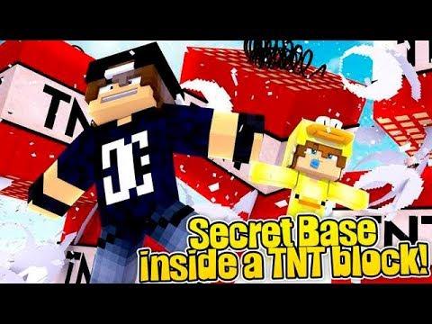Minecraft Secret Base - HOW TO MAKE A SUPER SECRET EXPLOSIVE TNT BASE!!