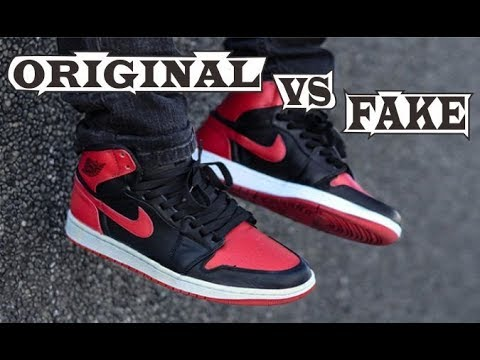 pretty nice 17845 86c49 Nike Air Jordan 1 Retro High OG  Banned  2016 Original   Fake
