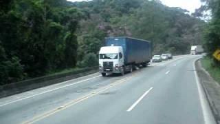 Serra do 90, a bordo de um Scania.