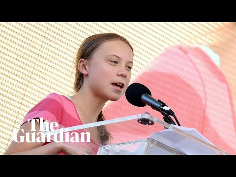 'We will make them hear us': Greta Thunberg's speech to New York climate strike
