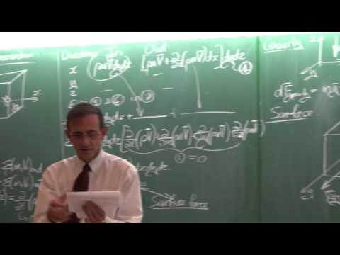 Lecture 18 (2014). Momentum and Navier Stokes equations
