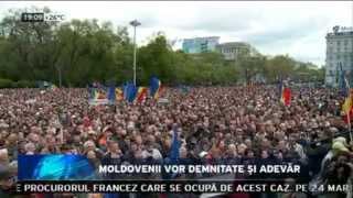 Moldovenii vor demnitate și adevăr