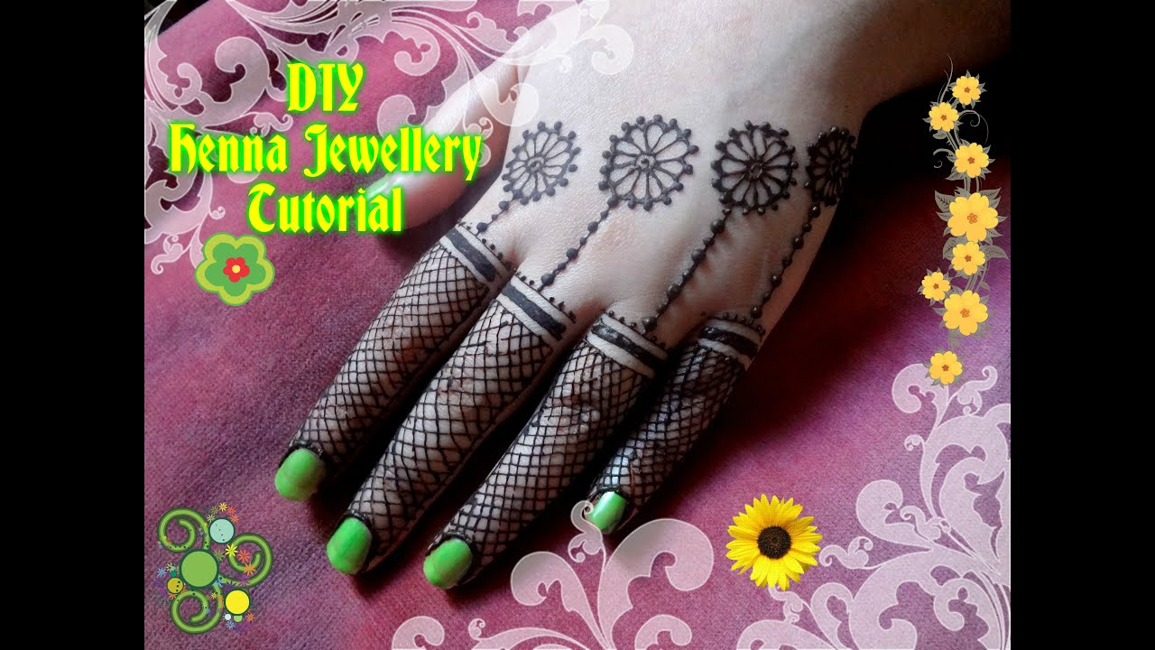 Easy DIY: Best and Beautiful jewellery style henna mehndi design ...