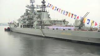 Парад в честь Дня ВМФ отрепетировали на главной базе Северного флота.