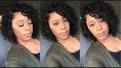 10 Inch Curly Bob Lace Front Wig I Under $100 I Elva Hair