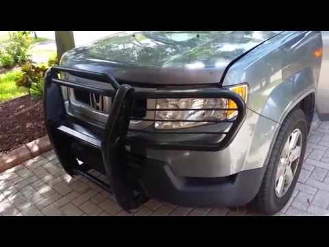 tips  installing bush grill guard  honda element   older youtube