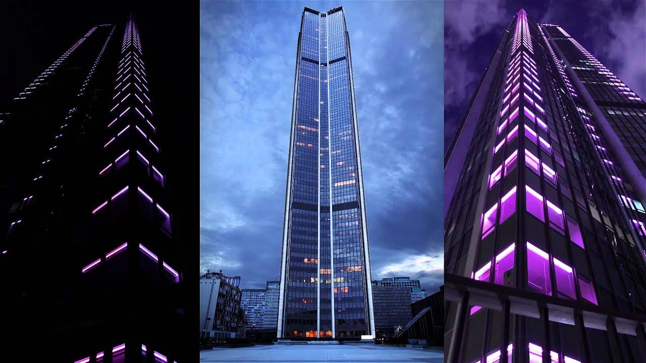 Super La tour Montparnasse s'habille en rose. Philips Eclairage - YouTube NE62