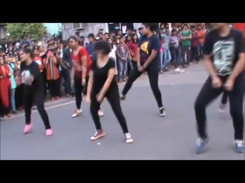 Flash mob at KIIT University by School of Biotechnology students