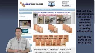Unfinished cabinet doors direct from the factory | 50% off retail