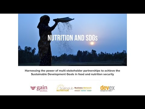 Nutrition, partnerships and the SDGs