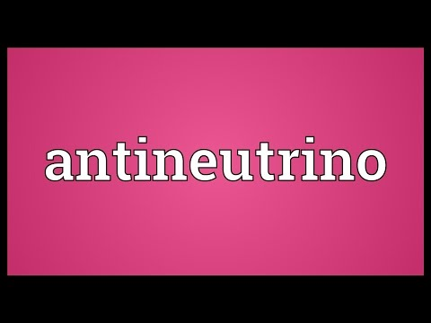 Header of antineutrino