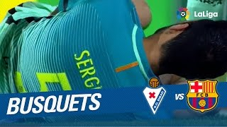La lesión de Sergio Busquets en el SD Eibar vs FC Barcelona (0 4)