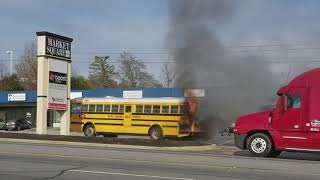 Filming a burning bus! And then a wreck? No way! Yes, it happened!