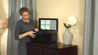 Holden Extra Large Bonded Leather Jewelry Box Black 16 5w X 10h In - Product Review Video