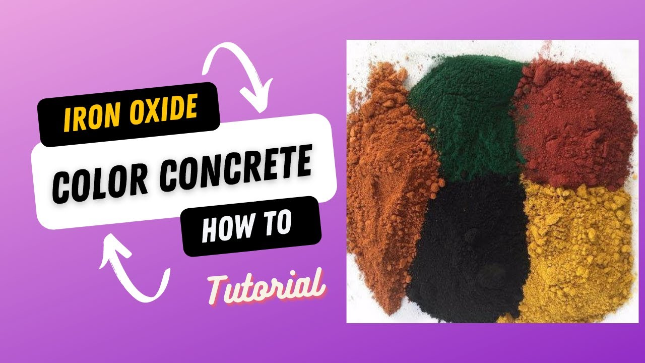 Q & A # 2 Concrete Iron oxide pigments ,how to use.Coloring concrete ...