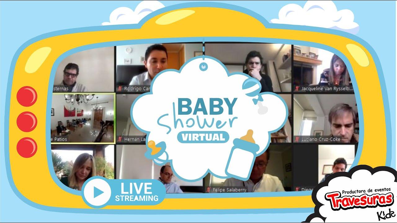 BABY SHOWER VIRTUAL VIA  ZOOM  - TRAVESURAS KIDS