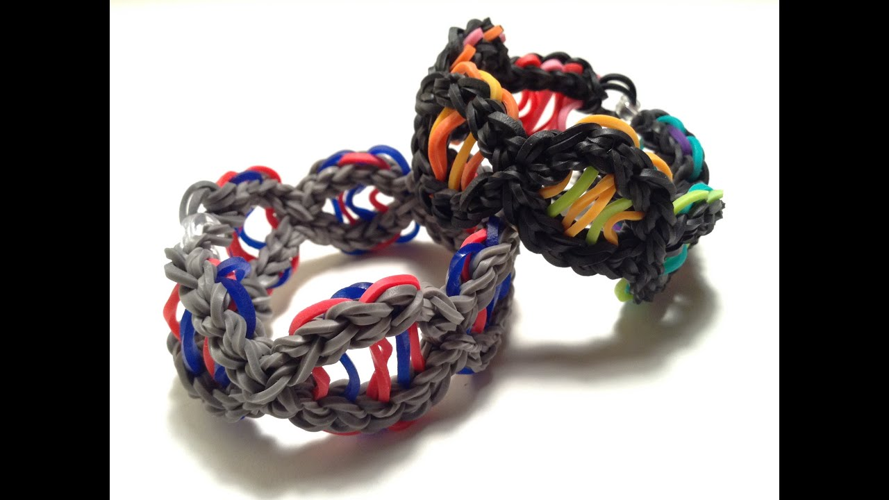 Dna Bracelet Tutorial Original Rainbow Loom Design Youtube