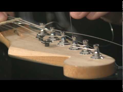 How To String A Guitar With Hip Shot Bridge Youtube