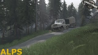 Spintires | Alps | Map Mod | UAZ-2315 | PC Gameplay