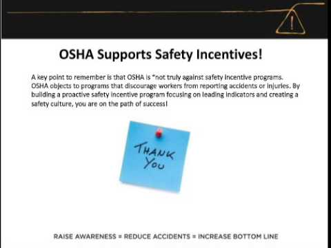Free webinar: OSHA-Compliant Safety Incentive Programs -- Are You Leading or Lagging?