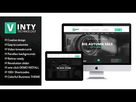 Vinty - WooCommerce Business WordPress Theme | Themeforest Website Templates and Themes thumbnail