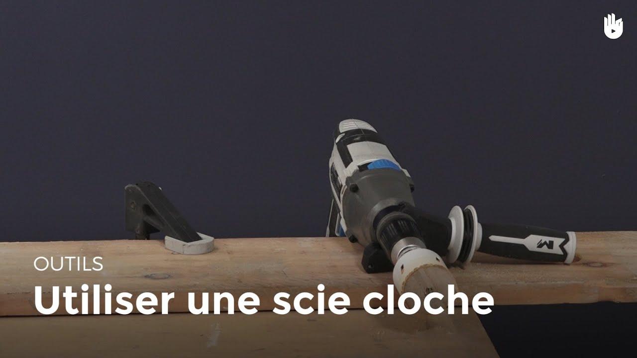 Utiliser une scie cloche bricolage youtube for Utiliser une scie sauteuse