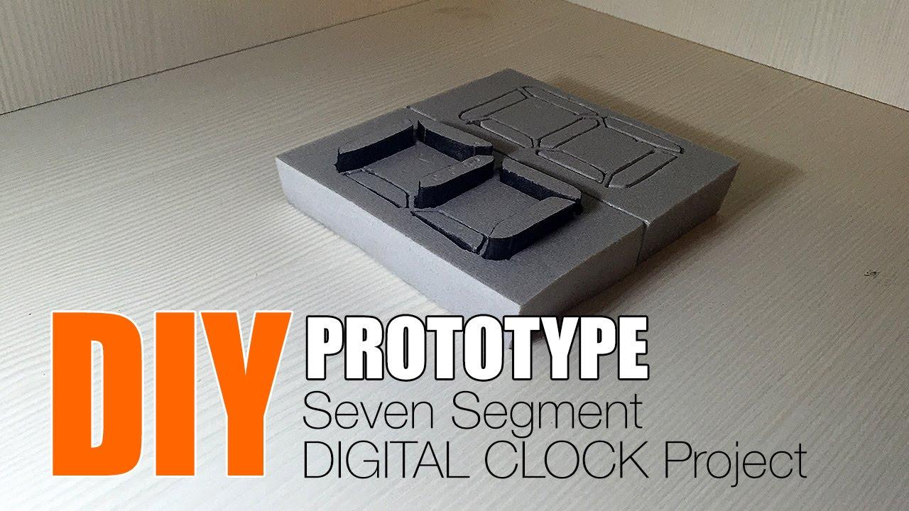 1/2 DIY 7-Segment Digital Clock Project Arduino/ATmega ...