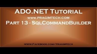 Part 13   What is SqlCommandBuilder