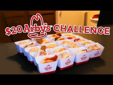 ARBY'S $20 HAPPY HOUR MENU CHALLENGE (20 Sliders)