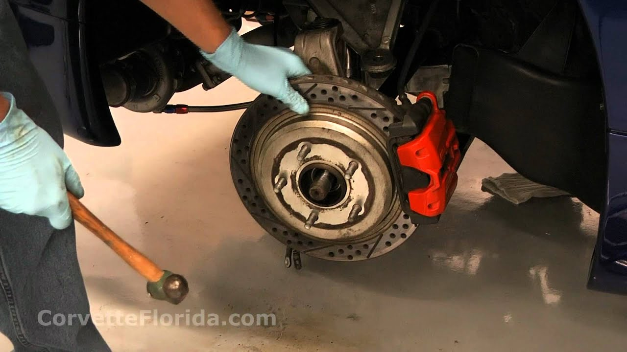 Removing a half shaft axle from a 2002 Corvette Z06